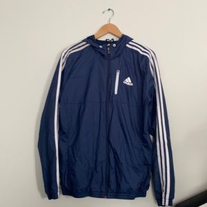 ADIDAS 3 stripes raincoat